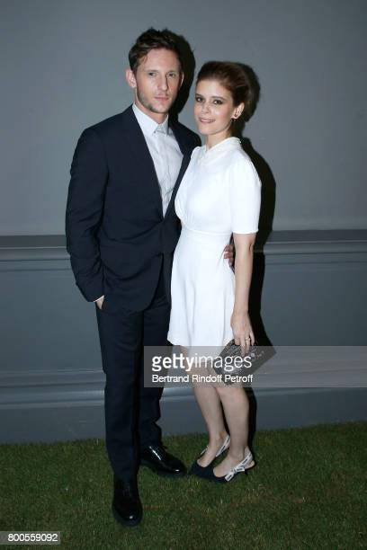 Actors Jamie Bell and Kate Mara attend the Dior Homme Menswear Spring/Summer 2018 show as part of Paris Fashion Week on June 24 2017 in Paris France