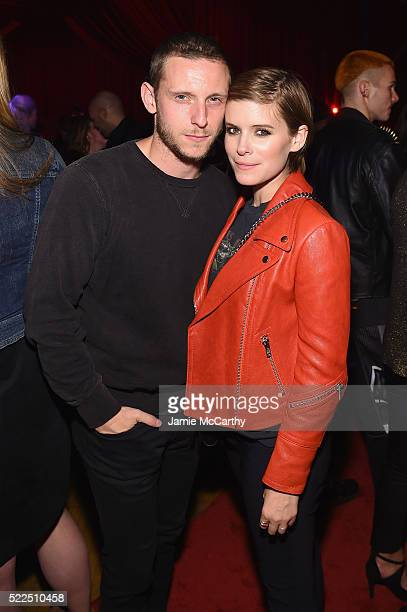 Actors Jamie Bell and Kate Mara attend the Marc Jacobs Eyewear launch of #MJscreamteam celebrating the Spring 2016 Collection on April 19 2016 in New...