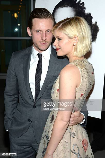 Actors Jamie Bell and Kate Mara attend the premiere of Lionsgate Premiere's 'Man Down' at ArcLight Hollywood on November 30 2016 in Hollywood...