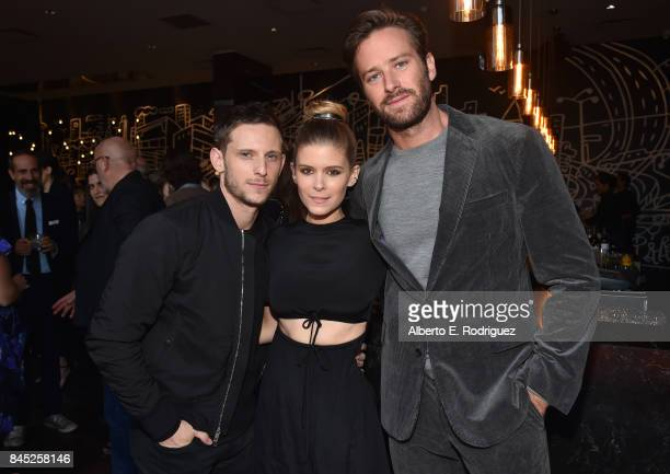 Actors Jamie Bell Kate Mara and Armie Hammer attend Entertainment Weekly's Must List Party during the Toronto International Film Festival 2017 at the...