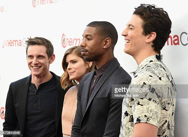 Actors Jamie Bell Kate Mara Michael B Jordan and Miles Teller attend 20th Century Fox Invites You to a Special Presentation Highlighting Its Future...