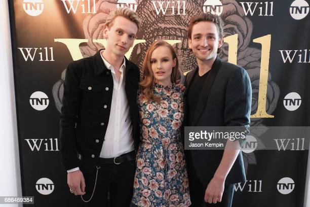 Actors Jamie Campbell Bower Olivia DeJonge and Laurie Davidson attend the TNT Supper Club Will Dinner event during TNT at Vulture Festival at West...