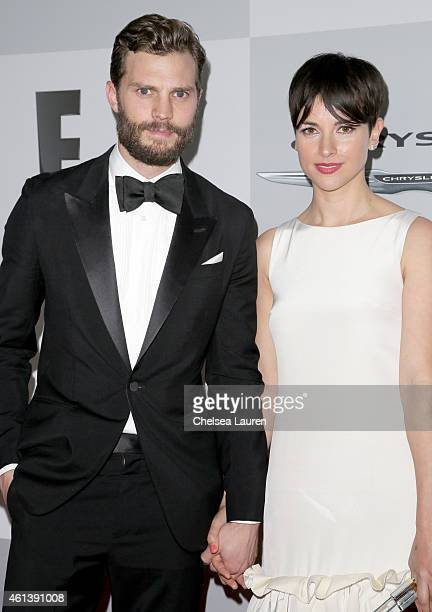 Actors Jamie Dornan and Amelia Warner attend the NBCUniversal 2015 Golden Globe Awards Party sponsored by Chrysler at The Beverly Hilton Hotel on...