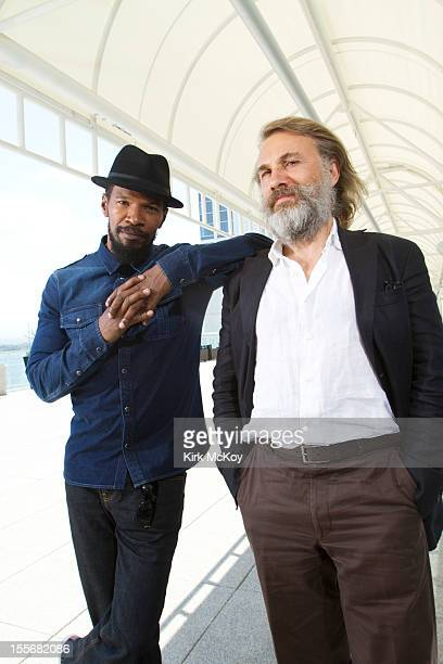 Actors Jamie Foxx and Christoph Waltz are photographed for Los Angeles Times on October 15 2012 in San Diego California PUBLISHED IMAGE CREDIT MUST...
