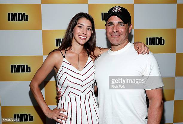 Actors Jamie Gray Hyder and Brian Bloom of Call Of Duty attend the IMDb Yacht at San Diego ComicCon 2016 Day Three at The IMDb Yacht on July 23 2016...