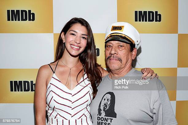 Actors Jamie Gray Hyder and Danny Trejo attend the IMDb Yacht at San Diego ComicCon 2016 Day Three at The IMDb Yacht on July 23 2016 in San Diego...
