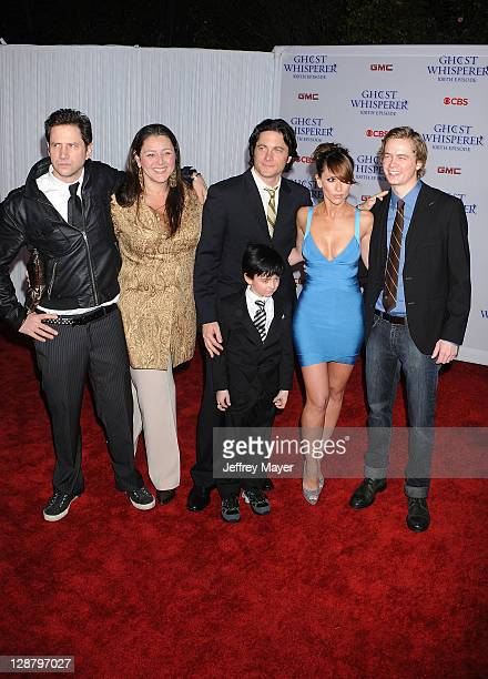 Actors Jamie Kennedy Camryn Manheim Connor Gibbs David Conrad Jennifer Love Hewitt and Chritoph Sanders arrive to the 'Ghost Whisperer' 100th Episode...