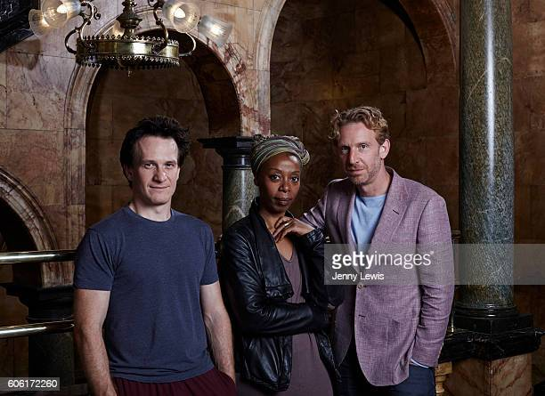 Actors Jamie Parker Noma Dumezweni and Paul Thornley are photographed for the Telegraph on June 20 2016 in London England