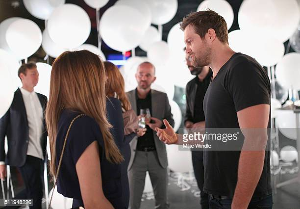 Actors JamieLynn Sigler and Eric Stults attend smartwater sparkling celebrates Jennifer Aniston and St Jude's Children's Hospital at W Hollywood on...