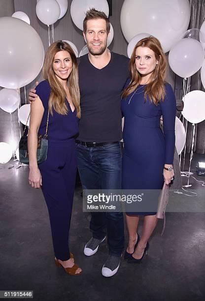 Actors JamieLynn Sigler Geoff Stults and JoAnna Garcia attend smartwater sparkling celebrates Jennifer Aniston and St Jude's Children's Hospital at W...
