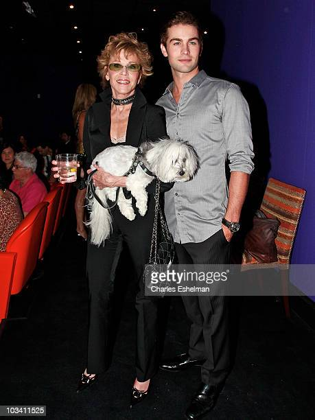 Actors Jane Fonda and Chace Crawford attend a screening of 'Mao's Last Dancer' at the Crosby Street Hotel on August 16 2010 in New York City