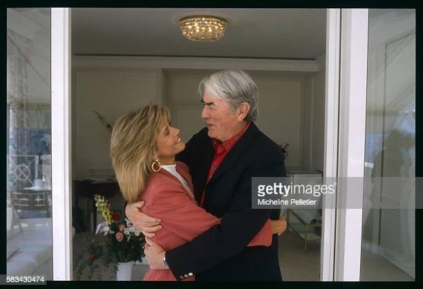 Actors Jane Fonda and Gregory Peck