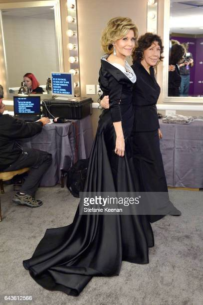 Actors Jane Fonda and Lily Tomlin attend The 19th CDGA with Presenting Sponsor LACOSTE at The Beverly Hilton Hotel on February 21 2017 in Beverly...