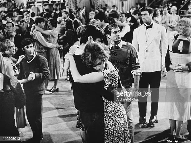 Actors Jane Fonda and Michael Sarrazin compete in a dance marathon in the film 'They Shoot Horses Don't They' 1969