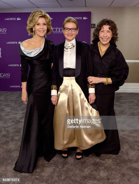 Actors Jane Fonda Dianne Wiest and Lily Tomlin pose at The 19th CDGA with Presenting Sponsor LACOSTE at The Beverly Hilton Hotel on February 21 2017...