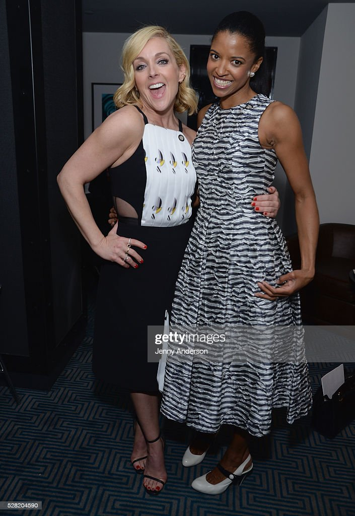 Actors <a gi-track='captionPersonalityLinkClicked' href=/galleries/search?phrase=Jane+Krakowski&family=editorial&specificpeople=203166 ng-click='$event.stopPropagation()'>Jane Krakowski</a> (L) and Renee Elise Goldsberry attends the 2016 Tony Awards Meet The Nominees Press Reception on May 4, 2016 in New York City.