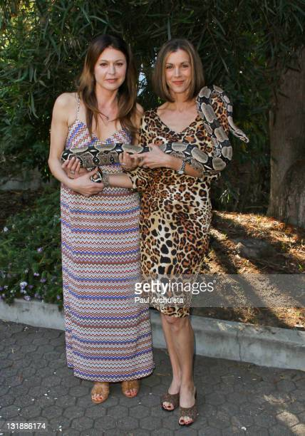 Actors Jane Leeves and Wendie Malick attend the Los Angeles Zoo Association's 41st annual Beastly Ball at Los Angeles Zoo on June 18 2011 in Los...