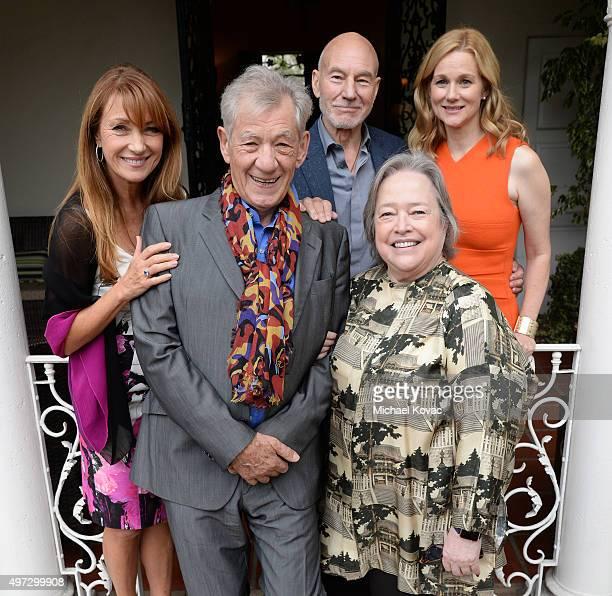 Actors Jane Seymour Ian McKellen Patrick Stewart Kathy Bates and Laura Linney attend Brunch With Sir Ian McKellan Hosted By British ConsulateGeneral...