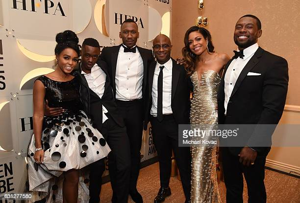 Actors Janelle Monae Ashton Sanders Mahershala Ali director Barry Jenkins actress Naomie Harris and actor Trevante Rhodes attend the 74th Annual...