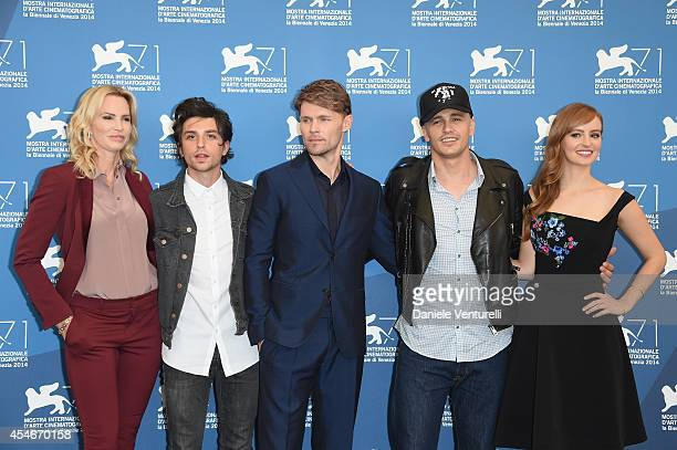 Actors Janet Jones Gretzky Jacob Loeb Scott Haze director James Franco and actress Ahna O'Reilly attend 'The Sound And The Fury' Photocall during the...