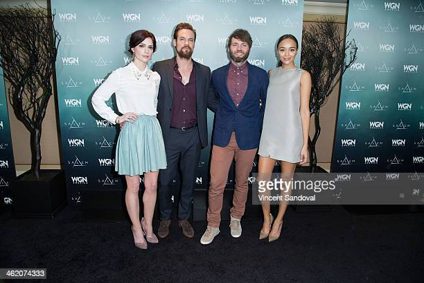 Actors Janet Montgomery Shane West Seth Gabel and Ashley Madekwe attend WGN America presents 'SALEM' at the 2014 Winter TCA's at The Langham...