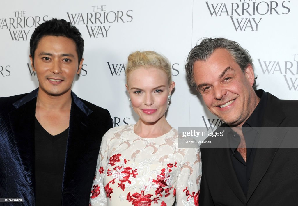 Actors <a gi-track='captionPersonalityLinkClicked' href=/galleries/search?phrase=Jang+Dong-gun&family=editorial&specificpeople=630208 ng-click='$event.stopPropagation()'>Jang Dong-gun</a>, <a gi-track='captionPersonalityLinkClicked' href=/galleries/search?phrase=Kate+Bosworth&family=editorial&specificpeople=201616 ng-click='$event.stopPropagation()'>Kate Bosworth</a> and <a gi-track='captionPersonalityLinkClicked' href=/galleries/search?phrase=Danny+Huston&family=editorial&specificpeople=211465 ng-click='$event.stopPropagation()'>Danny Huston</a> arrive at 'The Warrior's Way' screening held at CGV Cinemas on November 19, 2010 in Los Angeles, California.