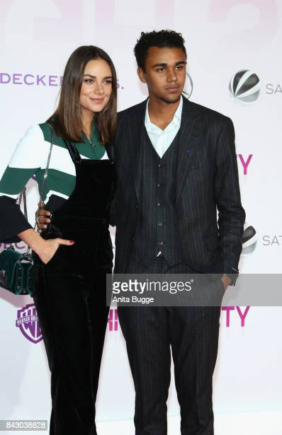 Actors Janine Uhse and Langston Uibel attend the 'High Society' Germany premiere at CineStar on September 5 2017 in Berlin Germany