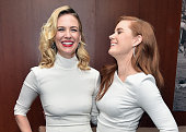 Actors January Jones and Amy Adams attend the Vanity Fair Super Bowl Party hosted by Graydon Carter Jon Bon Jovi Honors Super Bowl 50 Host Committee...