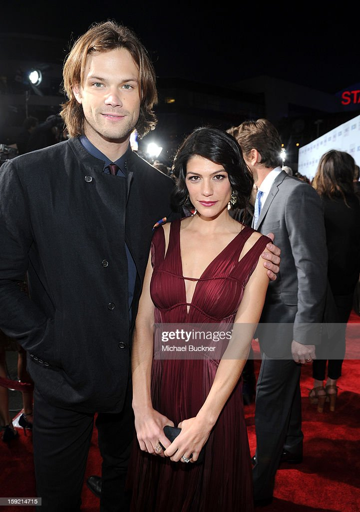 Actors <a gi-track='captionPersonalityLinkClicked' href=/galleries/search?phrase=Jared+Padalecki&family=editorial&specificpeople=215180 ng-click='$event.stopPropagation()'>Jared Padalecki</a> and Genevieve Padalecki attend the 39th Annual People's Choice Awards at Nokia Theatre L.A. Live on January 9, 2013 in Los Angeles, California.