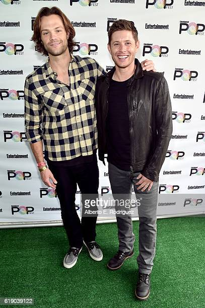Actors Jared Padalecki and Jensen Ackles attend Entertainment Weekly's PopFest at The Reef on October 29 2016 in Los Angeles California