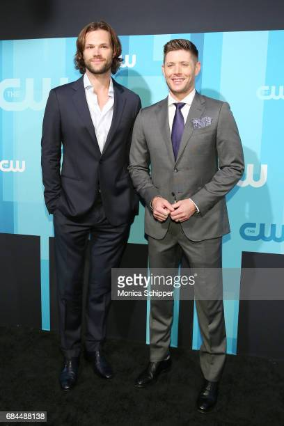 Actors Jared Padalecki and Jensen Ackles attend the 2017 CW Upfront on May 18 2017 in New York City