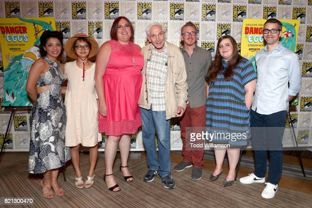 Actors Jasika Nicole and Charlyne Yi and Cocreator/comic strip author Shadi Petosky from 'Danger Eggs' Producer Marty Krofft from 'Sigmund and the...