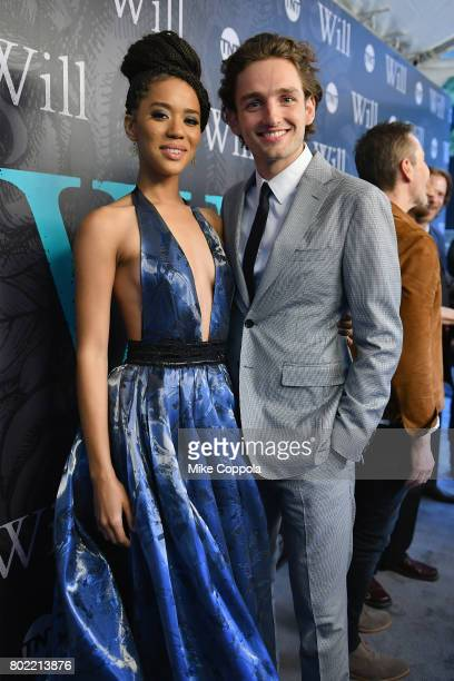 Actors Jasmine Savoy Brown and Laurie Davidson attendTNT's Season One 'Will' Premiere at Bryant Park on June 27 2017 in New York City 26058_015