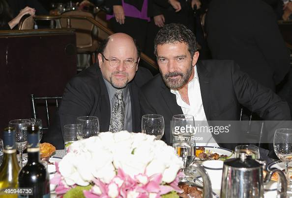 Actors Jason Alexander and Antonio Banderas attend Friends Of The Israel Defense Forces Western Region Gala at The Beverly Hilton Hotel on November 5...