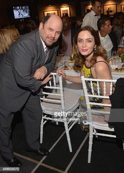 Actors Jason Alexander and Emily Blunt attend IWC Schaffhausen celebrates ''Timeless Portofino'' Gala Event during Art Basel Miami Beach to mark the...