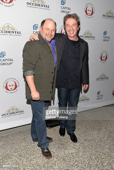 Actors Jason Alexander and Martin Short attend the 25th Annual Simply Shakespeare Benefit for the Shakespeare Center of Los Angeles at The Broad...