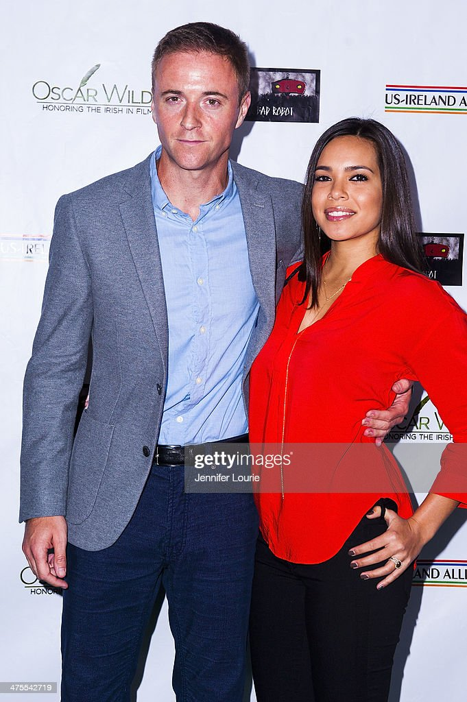 Actors Jason Barry and Kristin Crizaldo attend the 9th Annual 'Oscar Wilde: Honoring The Irish In Film' Pre-Academy Awards event at Bad Robot on February 27, 2014 in Santa Monica, California.