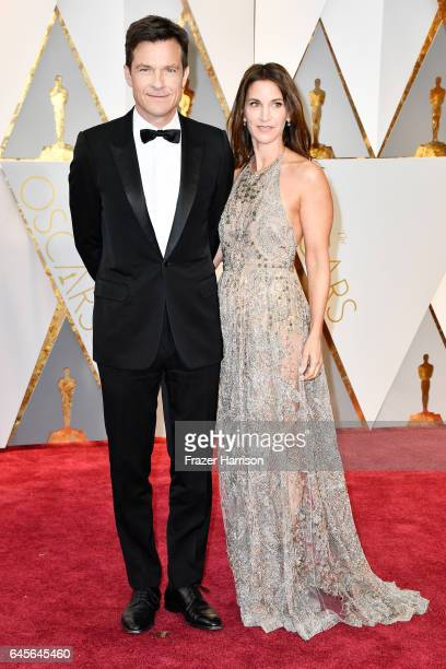Actors Jason Bateman and Amanda Anka attend the 89th Annual Academy Awards at Hollywood Highland Center on February 26 2017 in Hollywood California