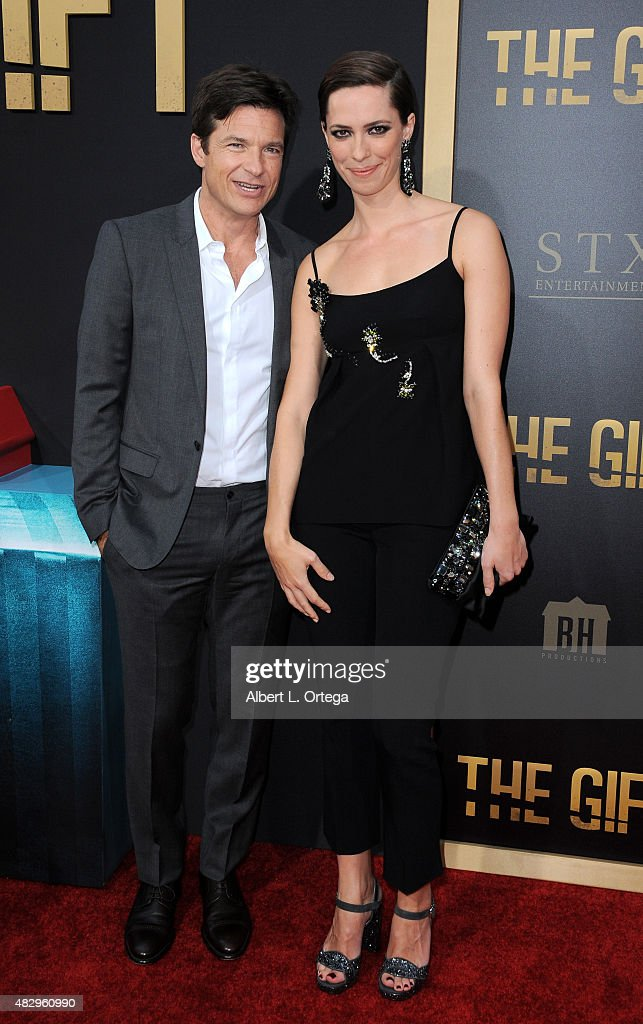 Actors Jason Bateman and Rebecca Hall arrive for STX Entertainment's 'The Gift' Los Angeles Premiere held at Regal Cinemas LA Live on July 30 2015 in...