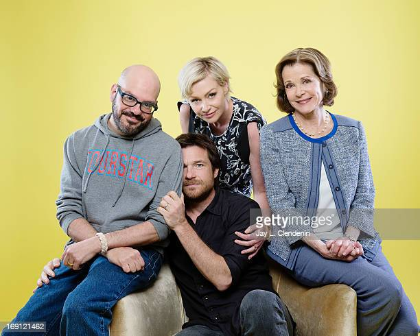 Actors Jason Bateman Portia De Rossi David Cross and Jessica Walter are photographed for Los Angeles Times on May 2 2013 in Beverly Hills California...