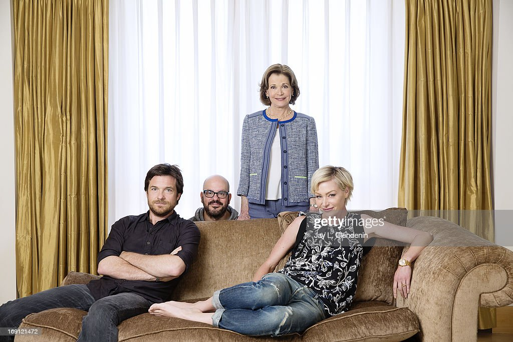 Actors Jason Bateman, Portia De Rossi, David Cross, and Jessica Walter are photographed for Los Angeles Times on May 2, 2013 in Beverly Hills, California. PUBLISHED IMAGE.