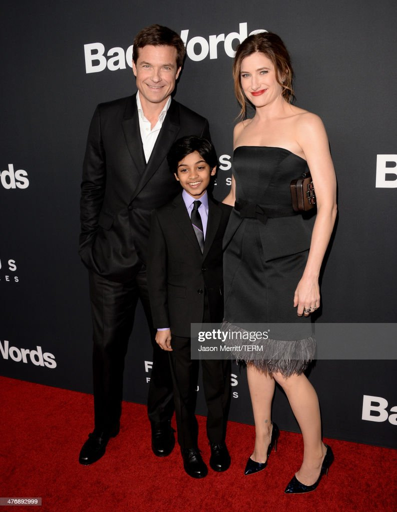 Actors <a gi-track='captionPersonalityLinkClicked' href=/galleries/search?phrase=Jason+Bateman&family=editorial&specificpeople=204774 ng-click='$event.stopPropagation()'>Jason Bateman</a>, Rohan Chand and <a gi-track='captionPersonalityLinkClicked' href=/galleries/search?phrase=Kathryn+Hahn&family=editorial&specificpeople=221548 ng-click='$event.stopPropagation()'>Kathryn Hahn</a> arrive at the premiere of Focus Features' 'Bad Words' at ArcLight Cinemas Cinerama Dome on March 5, 2014 in Hollywood, California.
