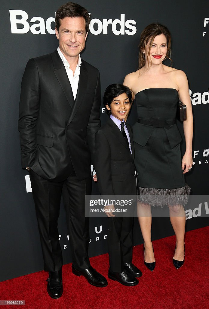 Actors <a gi-track='captionPersonalityLinkClicked' href=/galleries/search?phrase=Jason+Bateman&family=editorial&specificpeople=204774 ng-click='$event.stopPropagation()'>Jason Bateman</a>, Rohan Chand, and <a gi-track='captionPersonalityLinkClicked' href=/galleries/search?phrase=Kathryn+Hahn&family=editorial&specificpeople=221548 ng-click='$event.stopPropagation()'>Kathryn Hahn</a> attend the premiere of Focus Features' 'Bad Words' at ArcLight Cinemas Cinerama Dome on March 5, 2014 in Hollywood, California.