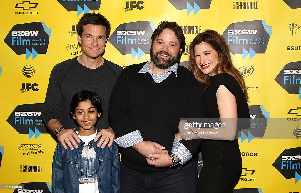 Actors Jason Bateman, Rohan Chand, Screenwriter Andrew Dodge and Actress Kathryn Hahn arrive at the SXSW Red Carpet Screening Of Focus Features' 'Bad Words' on March 7, 2014 in Austin, Texas.