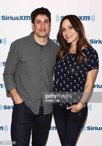 Actors Jason Biggs and Jenny Mollen visit SiriusXM Studios on June 16 2014 in New York City