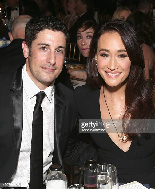 Actors Jason Biggs and Maggie Q attend PETA's 35th Anniversary Party at Hollywood Palladium on September 30 2015 in Los Angeles California