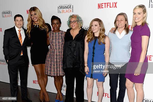 Actors Jason Biggs Laverne Cox Uzo Aduba Jenji Kohan Natasha Lyonne Netflix VP of Original Content Cindy Holland and actress Taylor Schilling attend...