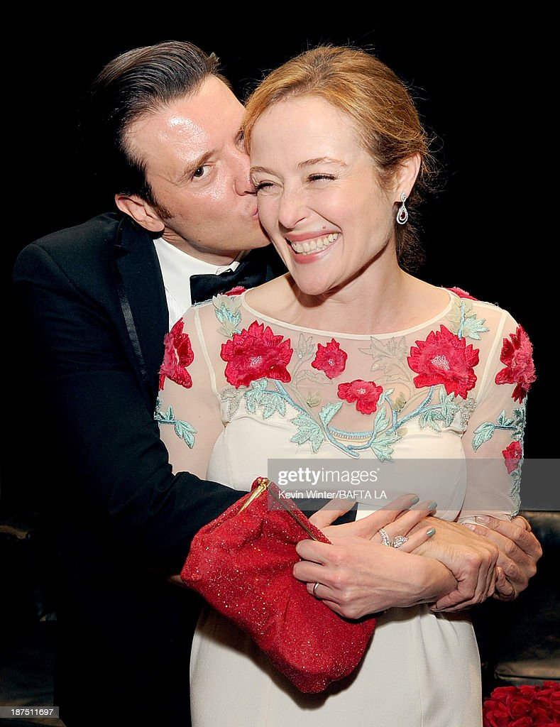 Actors Jason Butler Harner and Jennifer Ehle attend the 2013 BAFTA LA Jaguar Britannia Awards presented by BBC America at The Beverly Hilton Hotel on November 9, 2013 in Beverly Hills, California.
