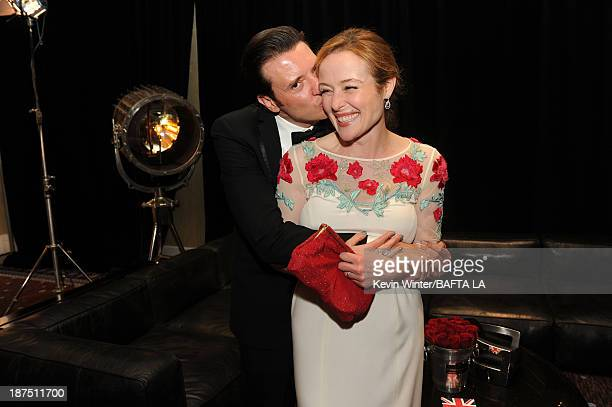 Actors Jason Butler Harner and Jennifer Ehle attend the 2013 BAFTA LA Jaguar Britannia Awards presented by BBC America at The Beverly Hilton Hotel on...