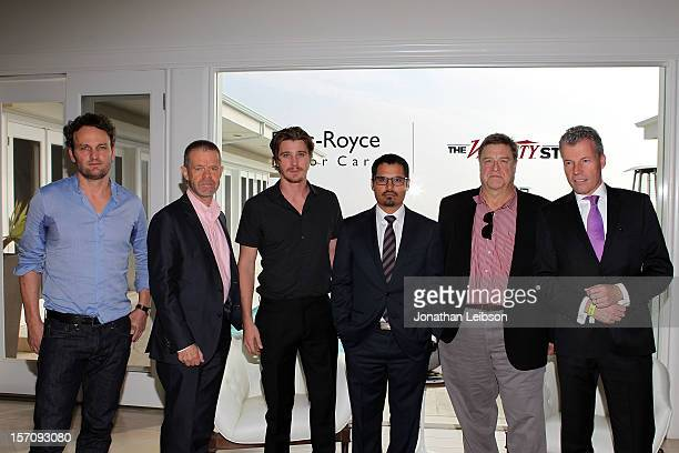 Actors Jason Clarke William H Macy Garrett Hedlund Michael Pena John Goodman and CEO RollsRoyce Motor Cars Torsten MuellerOetvoes attend The Variety...